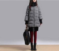 Long down jacket coat/Leisure splicing high-grade feather coats