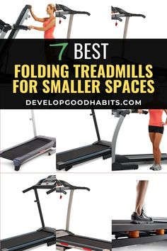 Treadmills great for working out at home. But they can take up a lot of space, which is no good if you have a small apartment. This post features some of the top rated folding treadmills that can easily fit in your closet or under your bed when not being used. See the best folding treadmills for your home workouts. #treadmills #athomeworkouts