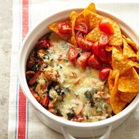 Chicken Taco Casserole loaded with spinach and peppers