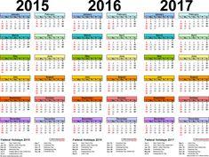 2015 calendars | Template 1: