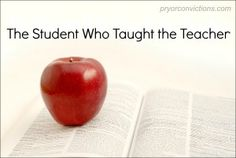 Sometimes it's the teacher who needs to learn a lesson or two... (Posted in Women's Corner at Pryor Convictions Media)