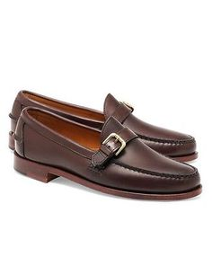 5c308bdede4 Rancourt   Co Calfskin Buckle Loafers - Brooks Brothers