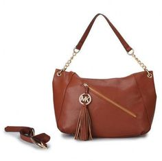 Michael Kors Chain Tassel Large Brown Shoulder Bags [mk_1711]