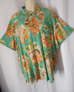POLO RALPH LAUREN Hawaiian Knit Shirt sz XXL blue Luau print NWT #PoloRalphLauren #Hawaiian