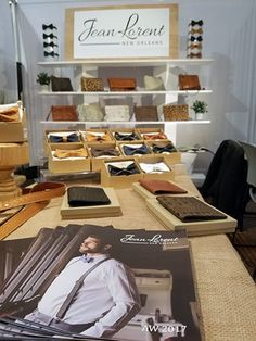Jean Lorent catalog at trade show booth. How do you keep buyers and press interested in your brand after the show is over? Create a lasting impression with custom booklets. #lookbook