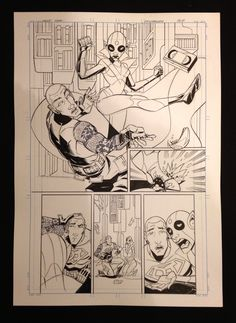 MIXMANCER (Page 7) - BEAT FUNCTIONARY beat down! Original pencils by Carlos Trigo on a 210x420mm, 200g sheet. Back the Kickstarter to own!