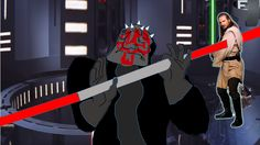 When you stab Qui Gon just right | Know Your Meme | #PachaEdits #SW #DarthMaulvsQuiGon #SWEPI #ThePhantomMenace #Zabrak #Theed #Naboo
