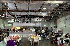 Old abattoir is nowadays trendy food hub. Restaurant Kellohalli and tasty food.