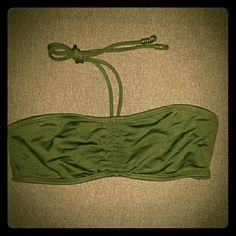 American Eagle Outfitters Swim Top Forest green American Eagle Outfitters bikini top. Never worn. Can be worn under tank tops or as bathing suit. American Eagle Outfitters Swim
