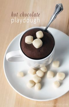hot chocolate play dough - the kids can welcome winter with play dough that smells just like real hot cocoa!