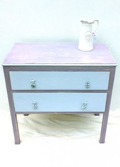 Lavender and Pale Blue Chest of Drawers, must have