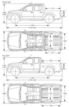 Nissan Navara blueprint - Vehicle Ref - Cars Nissan Gtr Nismo, Nissan Sentra B13, B13 Nissan, Nissan Navara D40, Slide In Truck Campers, Build A Camper, Truck Bed Camper, Patrol Y61, Nissan Patrol