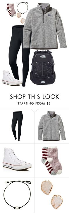 """cold school days"" by nbrooke1009 on Polyvore featuring NIKE, Patagonia, Converse, Free Press, Kendra Scott and The North Face"