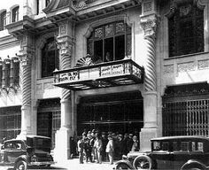 Stgo. Comienzos de Siglo - Cine Real de la calle de La Merced