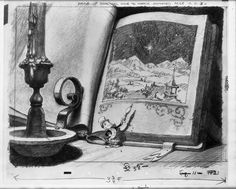 "Visual development for Disney's ""Pinocchio""."