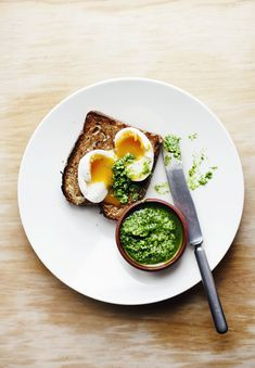 Coriander pesto & morning eggs.