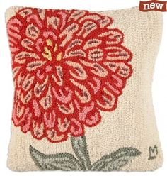 Flower needlepoint pillow photos | Chandler 4 Corners Hooked Pillows Made in Vermont