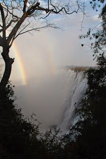 Why not?: Victoria Falls & Rainbows... it's huge!