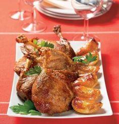 Pečená kačka s jablkami | Recepty.sk Russian Recipes, Turkey, Lunch, Chicken, Food, Turkey Country, Eat Lunch, Essen, Lunches