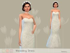 Wedding dress with floral embroidery. 3 color options Found in TSR Category 'Sims 4 Female Young Adult Party' Sims 4 Wedding Dress, Wedding Dresses, Sims 4 Dresses, The Sims 4 Download, Strapless Dress Formal, Formal Dresses, Sims 4 Update, Sims Resource, Sims 4 Clothing