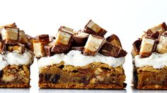 Frosted Snickers Blondies Recipe