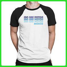 Teeburon Retro Color San Luis Potosi Raglan T-Shirt - Retro shirts (*Amazon Partner-Link)
