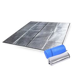 Workplace Safety Supplies Double Sided Foldable Waterproof Aluminum Foil Mat Outdoor Travel Beach Mat Sleeping Mattress For Camping Hiking Fashionable Patterns