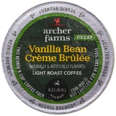 1 X 18 K-Cup Archer Farms Keurig Coffee Vanilla Bean Creme Brulee ** Click on…