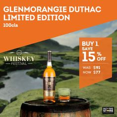 The Glenmorangie Duthac is a new Single Malt launched in 2015 exclusive to duty free. Do not miss out on great savings.