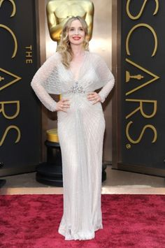 Julie Delpy wearing Jenny Packham Oscars 2014 Red Carpet