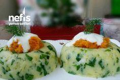 Nefis Patates Salatası Tarifi nasıl yapılır? Nefis Patates Salatası Tarifi'nin resimli anlatımı ve deneyenlerin fotoğrafları burada. Yazar: Ayşegül Öztelcan My Favorite Food, Favorite Recipes, Mellow Yellow, Freezer Meals, Easy Desserts, Mashed Potatoes, Sushi, Salads, Veggies
