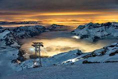 #Nebelmeer über #Engelberg, aufgenommen ab dem #Titlis am 16. Februar 2013. #Schweiz #Switzerland
