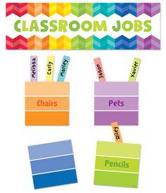 Painted Palette Classroom Jobs Mini Bulletin Board