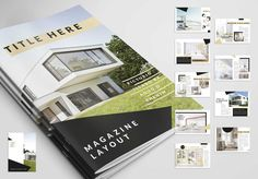 Safe time with a template.  template, templates, print, layout, brochure, magazine, A4, us letter, cmyk, ocre, black, brochure layout, real estate, architecture, minimal, modern, abstract, clean