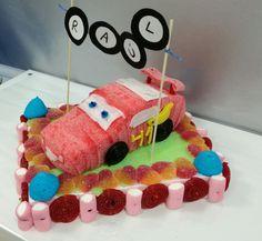 Tarta de chuches Rayo McQueen (Cars)