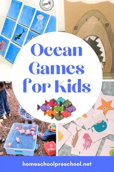Don't miss these ocean themed games for kids! Add them to your summer preschool lessons about the ocean. They're great for birthday parties, too! Beach Theme Preschool, Preschool Lessons, Preschool Activities, Ocean Games, Ocean Activities, Summer Crafts For Kids, Summer Activities For Kids, Memory Games For Kids, Games For Boys