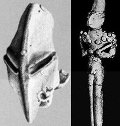 The Ubiad period in Iraq revealed artifacts there were humanoid but had reptilian features.  These objects definitely looked human from the neck down and are explained by detail if you believe Zechariah Stitchens interpretation of Sumerian documents.
