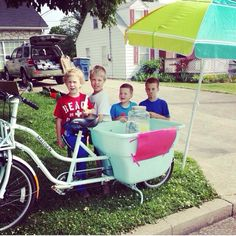Cutest lemonade stand and entrepreneurs you will ever see!