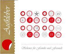 Sticker & Aufkleber - Aufkleber - Advent III, 48 Stück - ein Designerstück von MagManufacture bei DaWanda