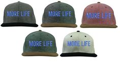 MORE LIFE Corduroy Snapback Dope Embroidered Confetti Flat