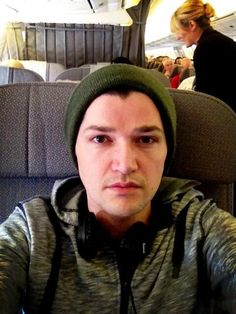 Danny on his flight :)