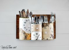 tin can crafts storage wall caddy