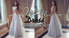 Shopping New Style Princess Tulle Long Two Piece Prom Dress Online | Mil...