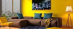 ¿Cómo decorar mi casa? | Comex Colourful Living Room, Living Room Decor, Couch, Furniture, Home Decor, Enamels, Vibrant Hair Colors, Color Coordination, Interior Paint