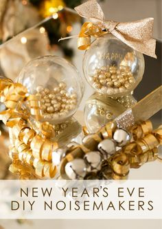 Make some noise at your NYE party with this easy, DIY New Year's Eve Noisemaker Tutorial. Your family and friends will love shaking and rattling these shimmery party accessories to welcome in Baby New Year, New Year Diy, New Year's Eve Celebrations, New Year Celebration, New Years With Kids, Silvester Diy, Diy Design, New Year's Eve Crafts, New Years Eve Games