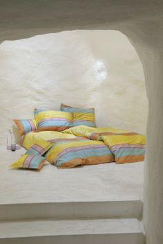 Bettwäsche aus Italien die Bassetti Bettwäsche Cortona gelb bei htx24 bestellen.
