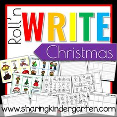 Roll'n Write Christmas - Sharing Kindergarten