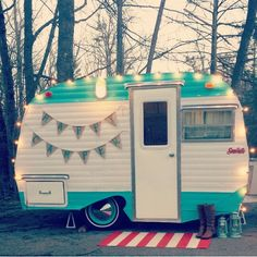 Bunting Banner Dresses Up This Vintage Camper Restoration 1967 Serro Scotty