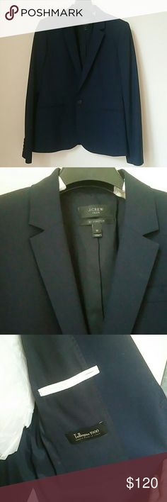 J. Crew super 120s wool suit jacket Worn once for an interview, dry cleaned and stored in plastic bag. Perfect condition! J. Crew Jackets & Coats Blazers