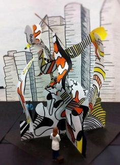 Dubuffet inspired sculptures  - art on Artsonia